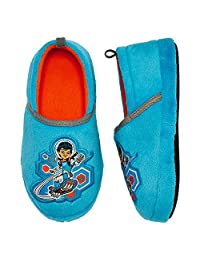 Disney Miles Tomorrowland Boys Slippers Blue Fleece Slipper Size 9/10