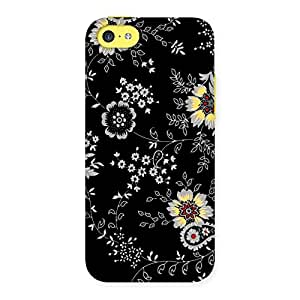 Ajay Enterprise Rel Classic Flower Back Case Cover for iPhone 5C
