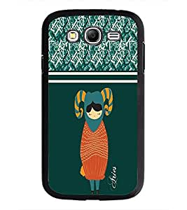 PrintDhaba Zodiac Aries D-2746 Back Case Cover for SAMSUNG GALAXY GRAND I9082 (Multi-Coloured)