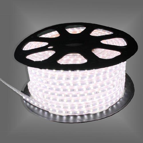 Free Shipping 5M White Or Warm White (White Pcb)Smd3528 220 V Led Strip Light + Free Plug
