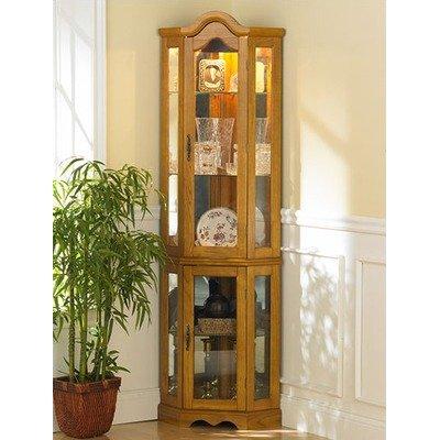 Kennedy Golden Oak Lighted Curio Cabinet