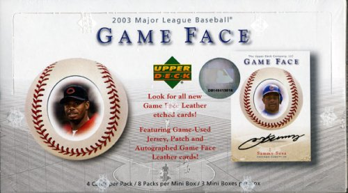 2003 Upper Deck Game Face Baseball Card Unopened Hobby Box
