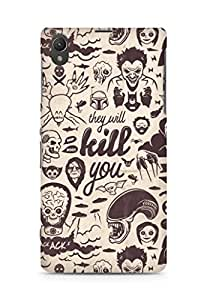 Amez designer printed 3d premium high quality back case cover for Sony Xperia Z1 C6902 (Villains Collection They Will Kill You)