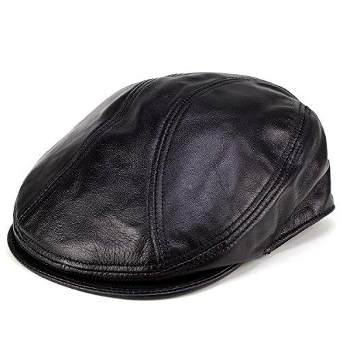 レザーハンチング 帽子/newyorkhat ニューヨークハット/皮革 羊革/ラムスキン ハンチング/Lambskin 1900/9211/黒 ブラック L/XL(約58~61cm)