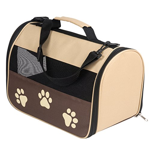 Evelots Deluxe Foldable Soft Sided Travel Pet Carrier,Indoor/Outdoor,14″L9″W 8″H