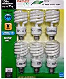 Sylvania X21528 23-Watt CFL Mini Twist Light Bulb, Soft White, 6 pack