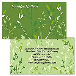 Organic Double-Sided Personalized Business Cards (Set of 250)