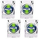 NFL Seattle Seahawks Super Bowl Champ Shot Glass Set (4-Piece)