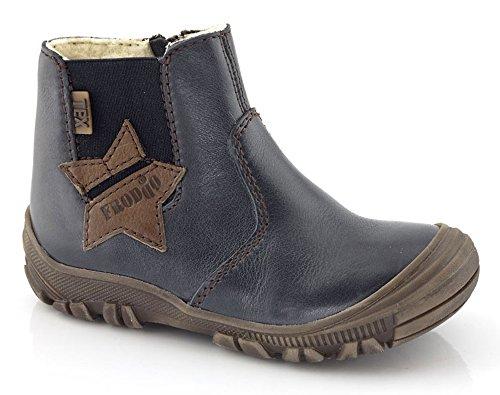FRODDO Leder TEX Unisex Stiefel Schafwolle warm Reißverschluss blau