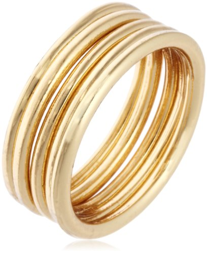 Jules Smith Edie Thin Yellow Gold Stackable Ring, Size 6
