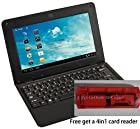 Epassion NEW (Android 4.0 - 1gb Ram) Solid Black 10 Inch Laptop Notebook Netbook Pc, Wifi and Camera with Installed Apps (Includes Mini Pc Mouse)