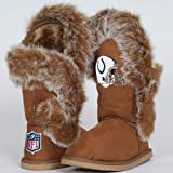 NFL Cuce Shoes Indianapolis Colts Ladies Fanatic Boots - Tan (8) Amazon.com
