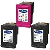 2x HP 300XL Black & 1x 300XL Tri-Colour (High Capacity) Remanufactured Printer Ink Cartridges For use with HP Envy 100 D410a 110 eAIO 120 eAIO Printers by Ink Trader