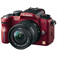 Buy Cheap Lumix - Panasonic Lumix DMC-G1 12.1MP Digital Camera with Lumix G Vario 14-45 mm f/3.5-5.6 ASPH Mega OIS Lens (Red)