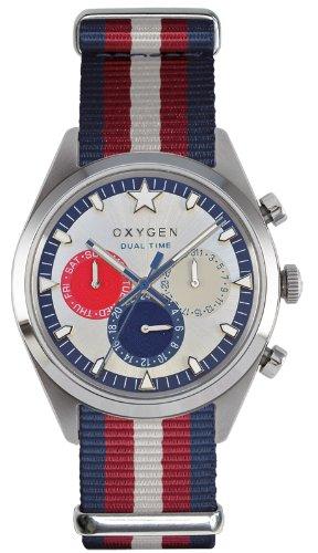 Oxygen - EX-SDT-LON-40-NAREIV - Dual Time - Montre Homme - Quartz Analogique - Cadran Multicolore - Bracelet Nylon Multicolore