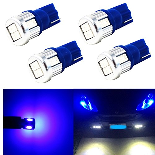 Alla Lighting 4x Super Bright Samsung 5630 SMD T10 Wedge 194 168 2825 W5W 175 Blue LED Bulbs for Replacing License Plate Interio Map Dome Side Marker Courtesy Cargo Light (Light Honda Accord 94 Coupe compare prices)