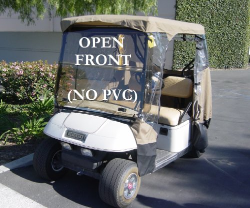 3 Sided Drivable Golf Cart Enclosure with Zippered door, fits E Z GO, Club Car and Yamaha G model