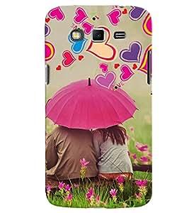 PrintVisa Romantic Love Couple Hearts 3D Hard Polycarbonate Designer Back Case Cover for Samsung Galaxy Grand 2