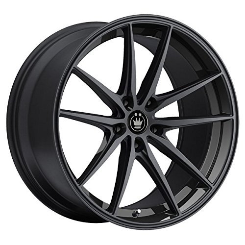 Konig 37B Oversteer 19x8.5 5x114.3 +45mm Gloss Black Wheel Rim (Honda Accord Sedan Rims compare prices)