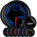 GlowShift Tinted 7 Color Needle Air / Fuel Ratio Gauge