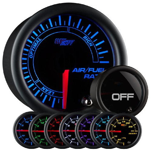 GlowShift Tinted 7 Color Needle Air / Fuel Ratio Gauge (Gauges Air Fuel Ratio compare prices)