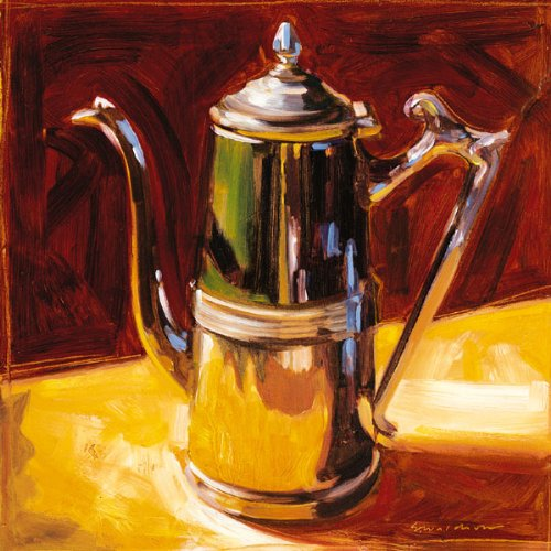 Tea Pot Iv Popular Hot Tea Quality Sign Teapot Classy Steel Vintage Kettle Pot Painting 12X12