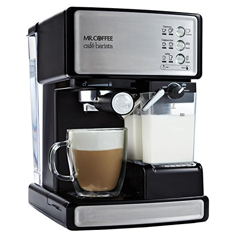 Coffee Maker With Milk Steamer : Mr Coffee Cafe Barista Espresso Maker with Automatic Milk Frother BVMC ECMP1000 072179232117 eBay