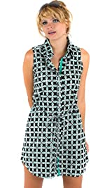Emerald Clover print shirtdress/tunic