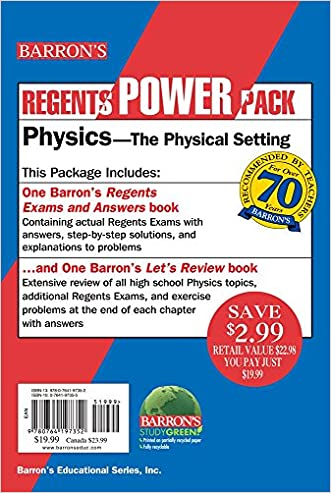 Physics - The Physical Setting Power Pack (Regents Power Packs)