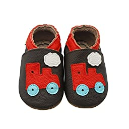 Sayoyo Baby Tractor Soft Sole Brown Leather Infant and Toddler Shoes 6-12months