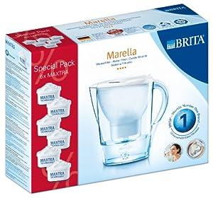 Brita Caraffa filtrante con 6 filtri inclusi Marella Cool, colore: Bianco