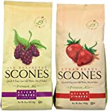 Sticky Fingers Bakeries Scone Variety Mix, Red Raspberry & Strawberry (Pack of 2)
