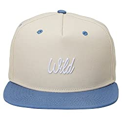 Urban Monkey Premium Beige Blue WILD Adjustable Baseball Snapback Free Size Unisex Hip Hop Cap