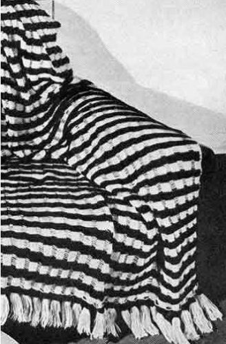TWO TONE SLIP-STITCH KNITTED AFGHAN PATTERN - Vintage 1947 Knitting Pattern (ePattern) - Instant Download Ebook - AVAILABLE FOR DOWNLOAD to KINDLE DX, ... (digital book, knit, blanket, throw, e-book)