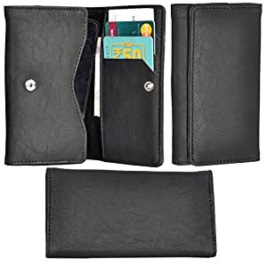 R&A Pu Leather High Quality Wallet Pouch Case Cover With Card Slot & Note Slots,Soft Inner Velvet For Samsung Galaxy A8