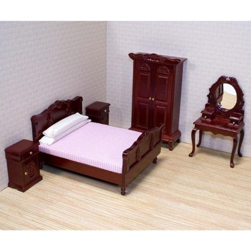 Melissa & Doug Deluxe Doll – House Bedroom Furniture