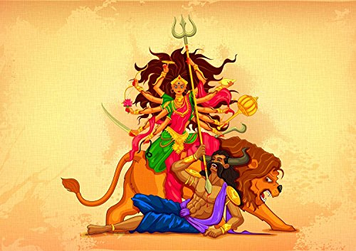 Tallenge - Digital Indian Art - Maa Durga - Unframed Rolled A3 Size Poster (11.6x16.5 inches)  available at amazon for Rs.149