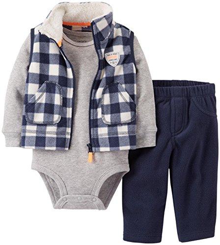 Carter'S 3 Piece Vest Set (Baby) - Navy-12 Months