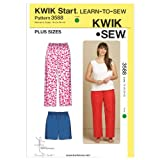 Kwik Sew K3588 Sleep Pants and Shorts Sewing Pattern, Size 1X-2X-3X-4X