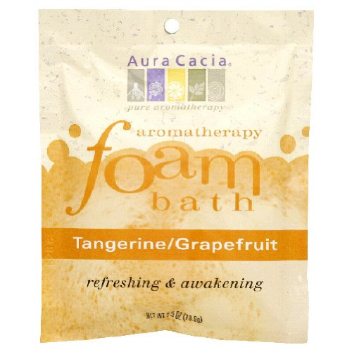 Aura Cacia, Aromatherapy Foam Bath Tangerine/Grapefruit - 2.5 Oz