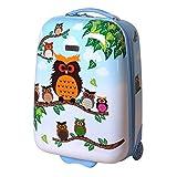 Karry Kinder Hartschalen Handgepäck Koffer für Mädchen LED Skater Rollen