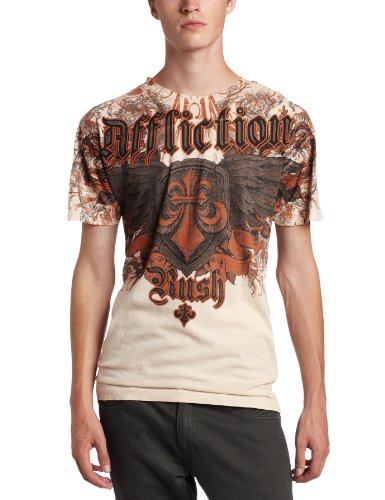 Affliction - Mens Gsp Style T-Shirt In Sand Lava Wash, Size: Large, Color: Sand Lava Wash