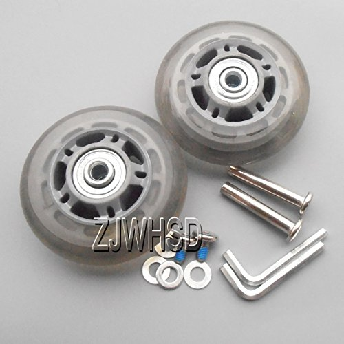 Review Luggage Suitcase Replacement Wheels OD: 70mm (2.76) ID: 6mm (0.24) Wide: 24mm (0.94) Axles...