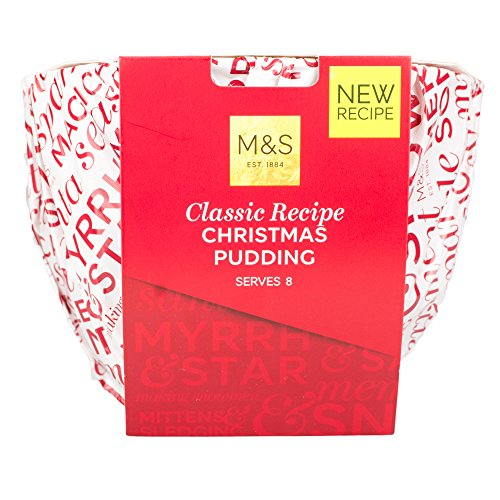 Marks & Spencer Classic Recipe Christmas Pudding 907g (2lb) | Delicately Spiced & Packed with Vine Fruits with Lashings of Cider, Rum & Sherry Made in UK