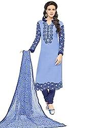pakiza design new arrival blue chanderi cotton festival party wear salwar suit dress material