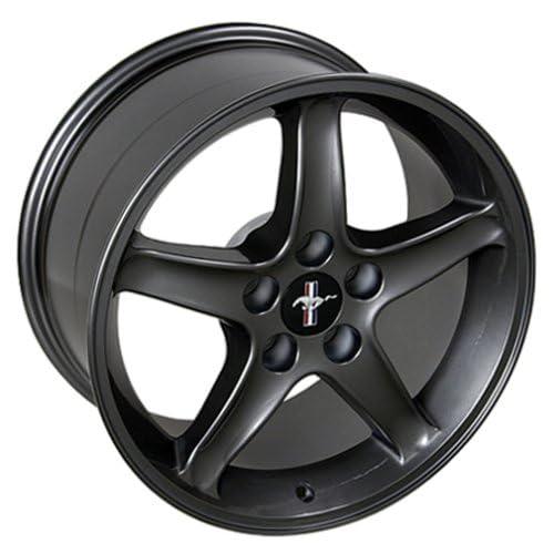 Ford Mustang Cobra R Style Wheel Gunmetal Wheels Rims 1994 1995 1996 1997 1998 1999 2000 2001 2002 2003 2004 2005 94 95 96 97 98 99 00 01 02 03 04 05