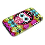 DeinPhone Mosaic Owl Large Eyes Case Cover Bumper for Samsung Galaxy Ace Plus S7500