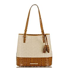 Hudson Bucket Bag<br>Whiskey Raffia