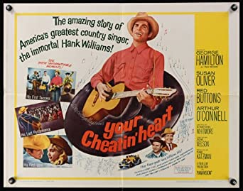 Your Cheatin' Heart half-sheet movie poster '64 great image of George