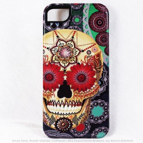 Great Sale Premium Colorful Sugar Skull iPhone 5 5s TOUGH Case - Artisan iPhone 5s Case with Dia De Los Muertos Artwork By Da Vinci Case